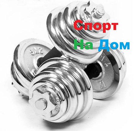 Гантели разборные Хром 12,5 кг+12,5 кг., фото 2
