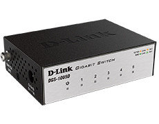 Неуправляемый коммутатор  D-link DGS-1005D