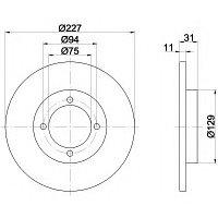 Тормозные диски Mazda  323  (80-85, передние), фото 1