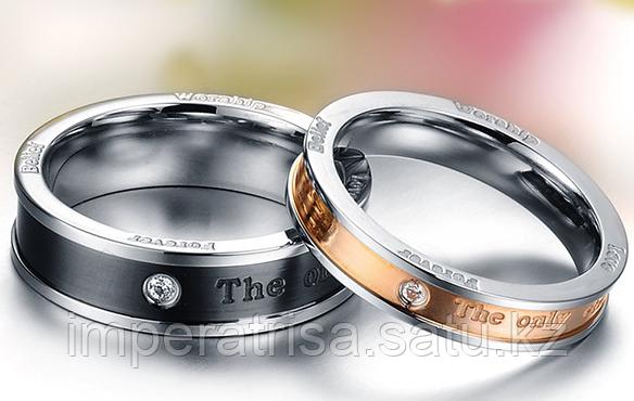 """Двойные кольца для влюбленных """"Вечная любовь"""""""