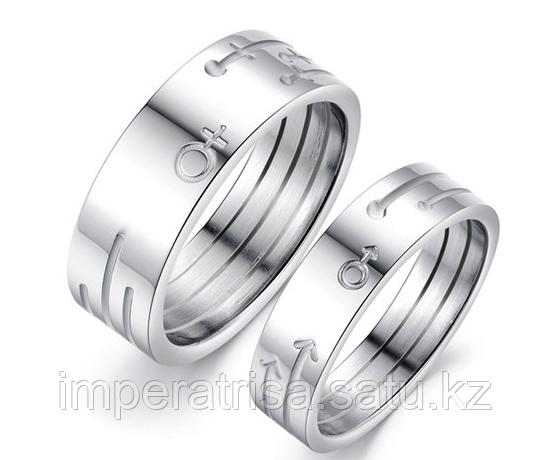 """Парные кольца для влюбленных """"Марс и Венера"""""""