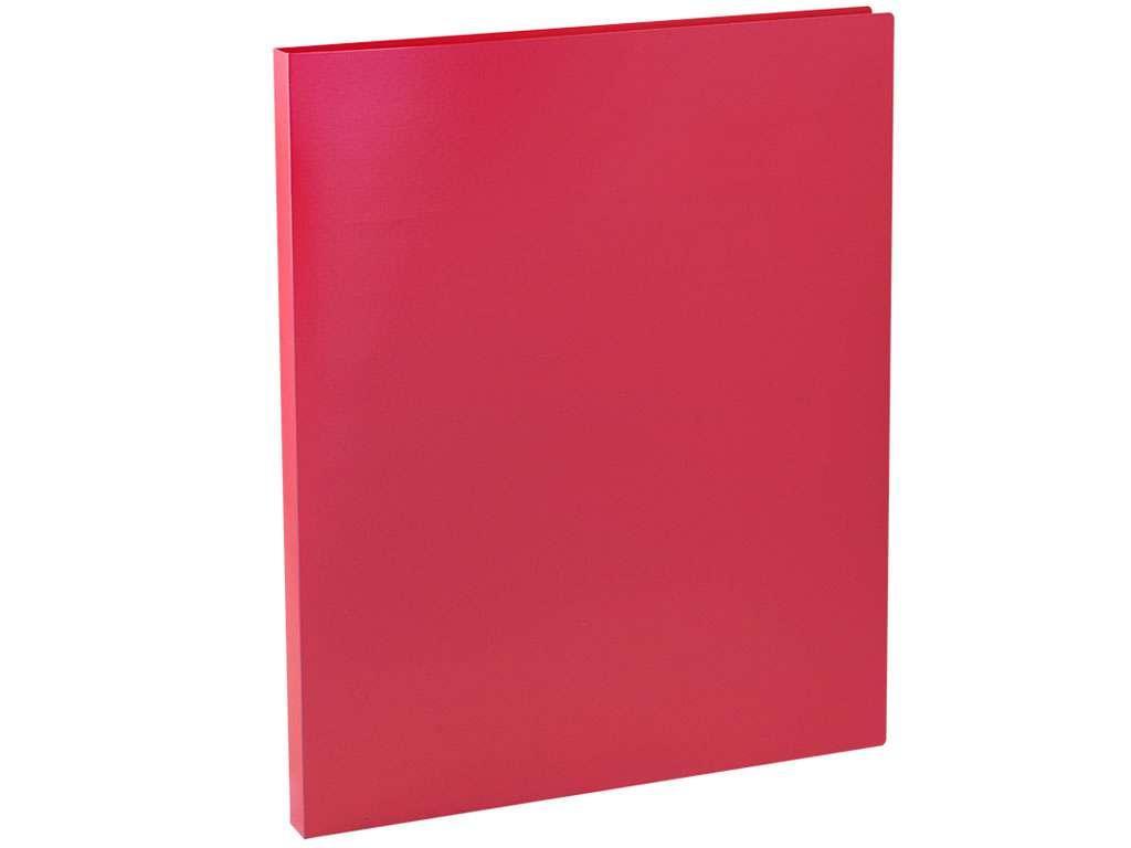 Папка с зажимом OfficeSpace, A4, 15 мм, 500 мкм, красная