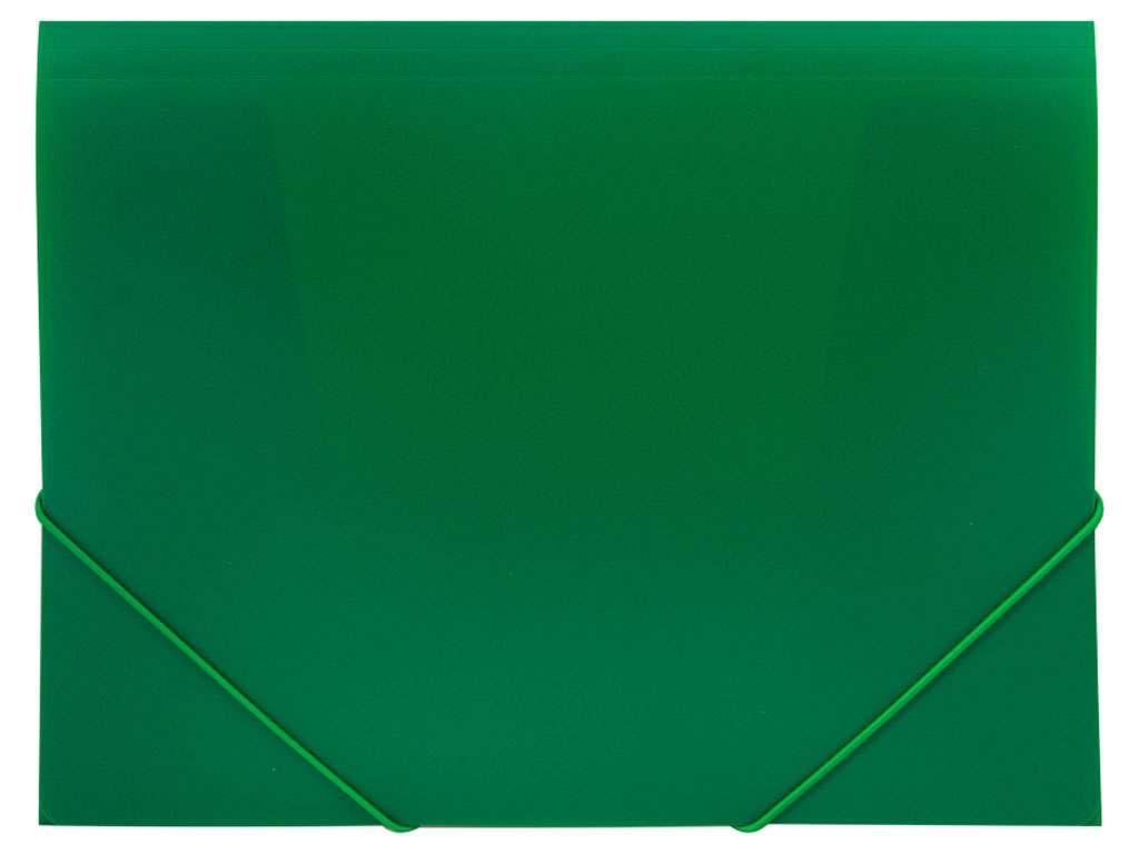 Папка на резинках OfficeSpace, A4 пластиковая, зеленая
