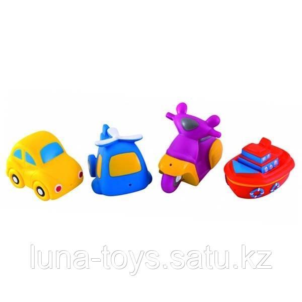 """Canpol игрушка для ванны """"Транспорт"""" 4 шт"""