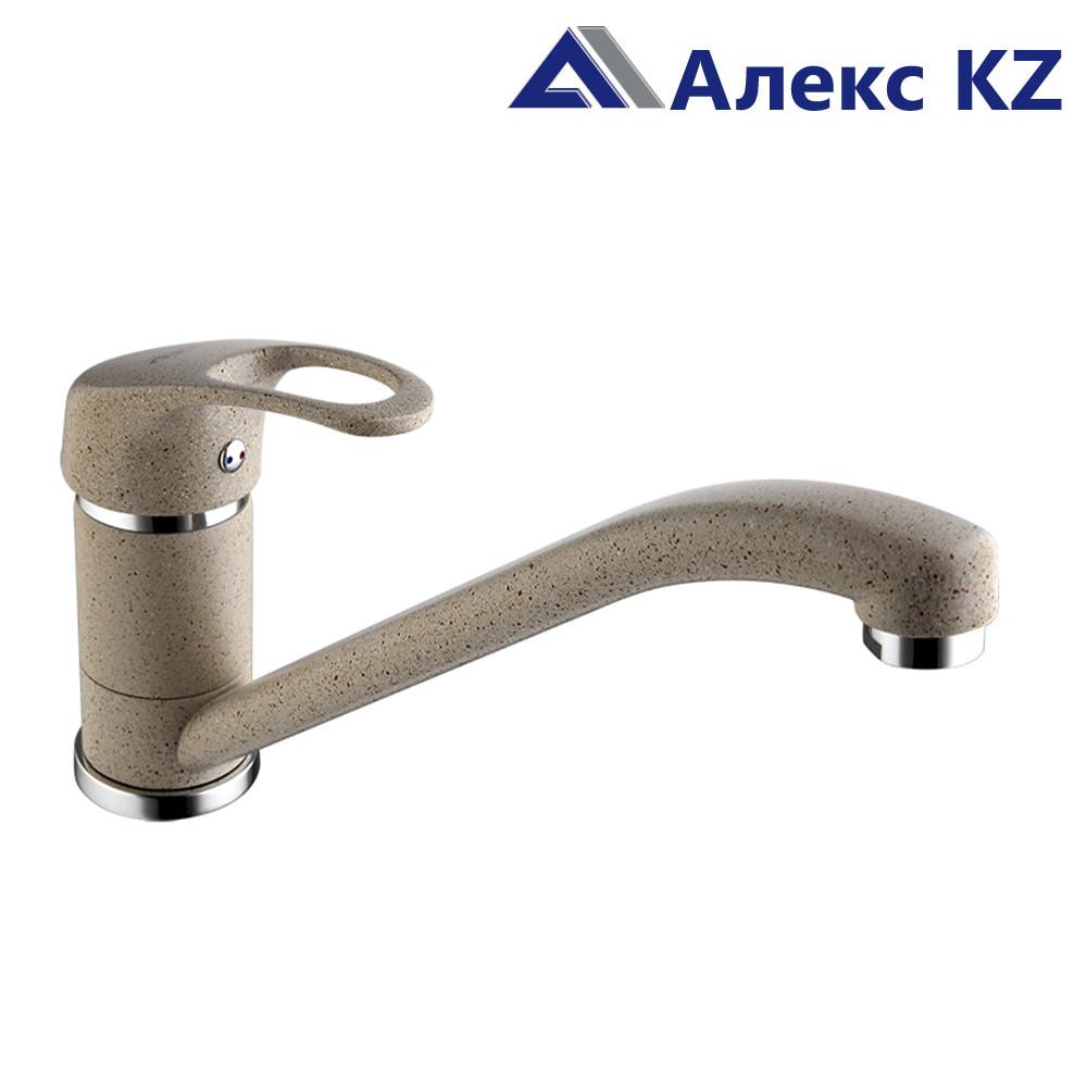 Смеситель KOLAG 2029-7, цвет: серый, одноручный для кухни с  поворотным изливом
