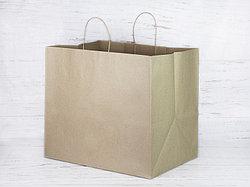 Бумажный крафт-пакет. Размер 34*40*30