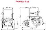Инвалидная коляска электр.,30 Кг, COSIN COLOR 180d, 24v 500w (2*250w). Аккум. гелевый 24v 12A/H., фото 2