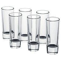 Стопка ГРОСЕЙ 6 шт. прозрачное стекло ИКЕА, IKEA