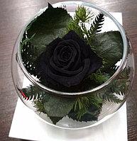 Стабилизированная роза (роза в вазочке)