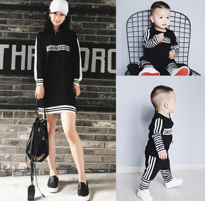 Одинаковая одежда для сына и мамы (цена за комплект)