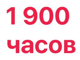 Расширение памяти  до 1 900 часов