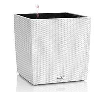 Горшок цветочный с автополивом LECHUZA Cube cottage 40 белый - 40*40*40 см, фото 1