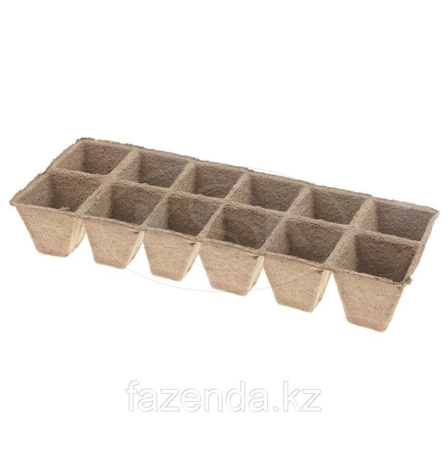 Блок торфяных стаканчиков 5х5, 12 ячеек