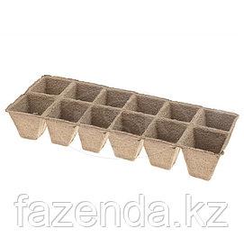 Блок торфяных стаканчиков 5х5, 12 ячеек (5 шт)