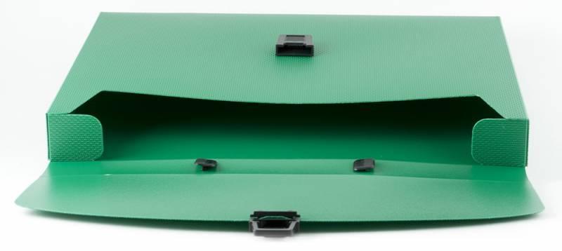 Портфель пластиковый А-4  зеленый Basic