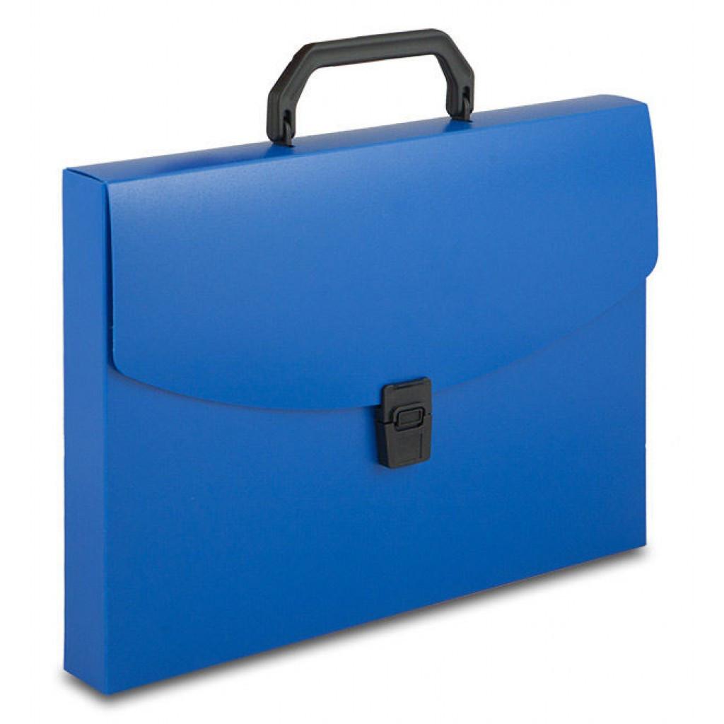 Портфель пластиковый А4 синий silwerhof 1 отделение
