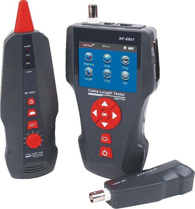 Многофункциональный тестер для LAN, телефонного и коаксиального кабеля, Ping-тест, определение PoE, цв.дисплей