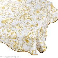 VETTA Скатерть виниловая с каймой, 152x228см, Бежевые цветы 0147-1, GC 479-183