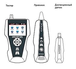 Многофункциональный тестер для LAN, телефонного и коаксиального кабеля, Ping-тест, определение PoE, цв.дисплей, фото 3