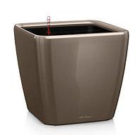 Вазоны с автополивом LECHUZA Quadro 28 - 28*28*33cм блестящий серо-коричневый, фото 1