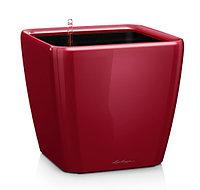 Вазоны с автополивом LECHUZA Quadro 28 - 28*28*33cм блестящий ярко-красный, фото 1