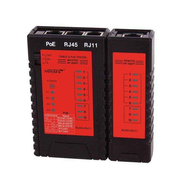 Универсальный тестер PoE  STP/UTP CAT-5E, CAT-6 (8P8C, RJ45)