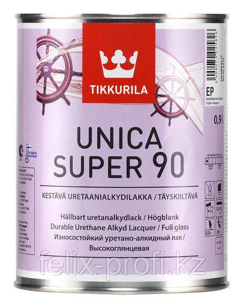 UNICA SUPER 90 EP износостойкий универсальный алкидный лак п/мат. 9л.