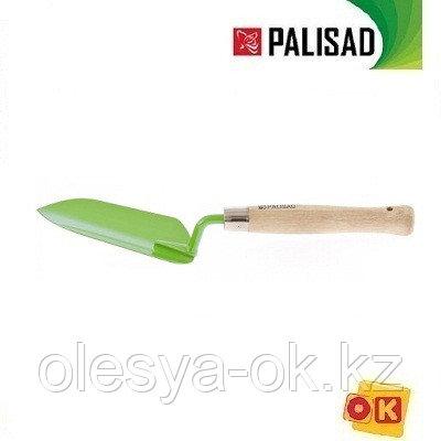 Совок посадочный узкий, деревянная рукоятка, 350 мм. PALISAD