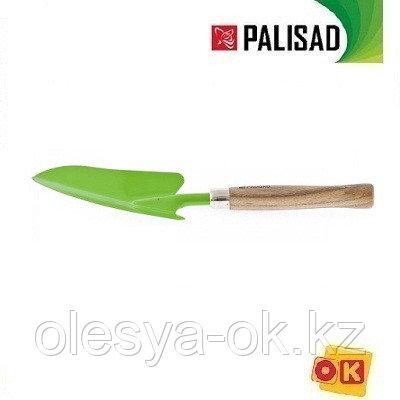 Совок посадочный широкий, деревянная рукоятка, 380 мм. PALISAD