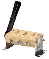 ВР32-31 А 31240-00 УХЛ3, 100А, несъёмная передняя смещённая рукоятка, 3-х полюсный на одно направление, с