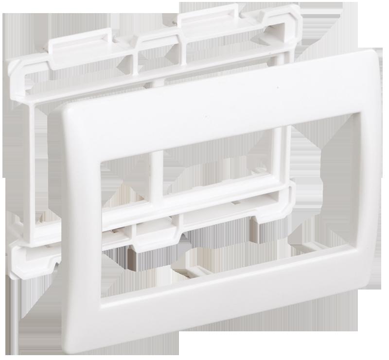 """Рамка и суппорт для К.К. """"Праймер"""" на 4 модуля, 75мм белый IEK"""