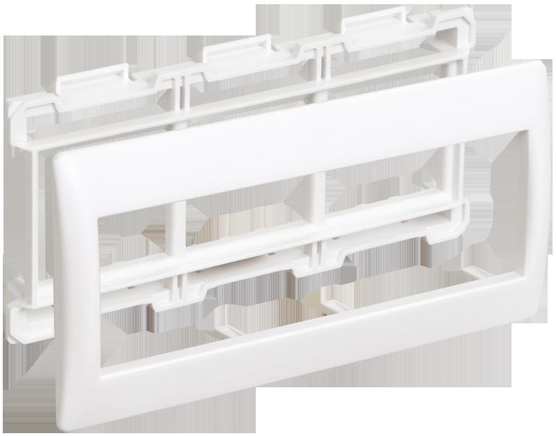 """Рамка и суппорт для К.К. """"Праймер"""" на 6 модулей, 60 мм белый IEK"""