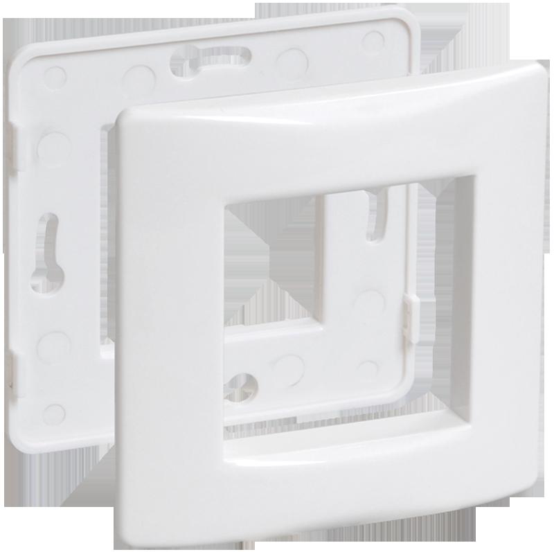 Рамка и суппорт для коробок КМКУ на 2 модуля белые IEK