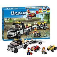"""Конструктор Bela Urban 10649 (аналог Lego City 60148) """"Гоночная команда"""", 253 детали"""