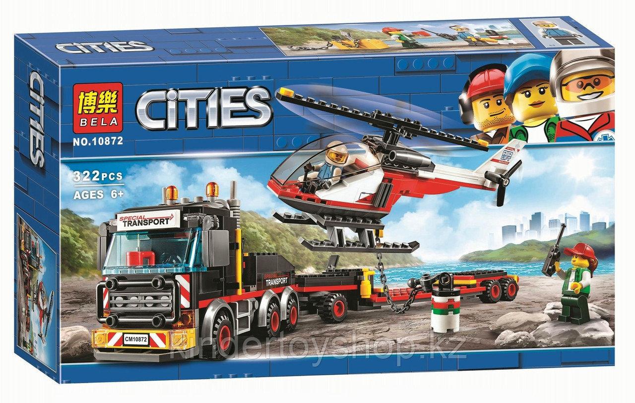 """Конструктор Bela 10872 (Аналог Lego City 60183), """"Перевозчик Вертолета"""" 322 детали,"""