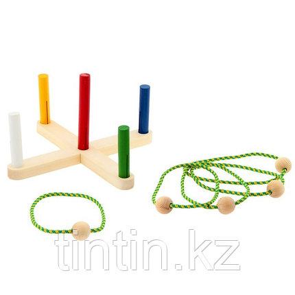 Деревянная игрушка — Кольцеброс (Россия), фото 2