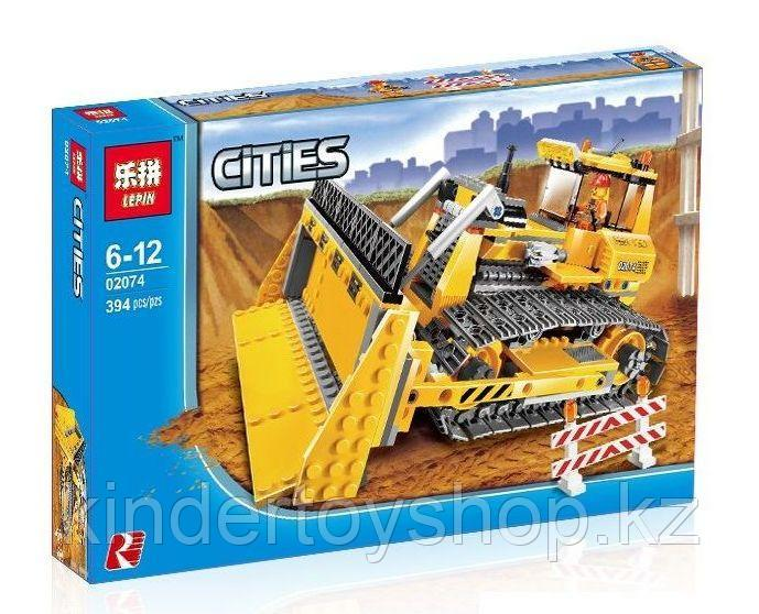 Конструктор lego LEPIN 02074 Бульдозер Genuine 394Pcs Technic Series Аналог Лего City 7685