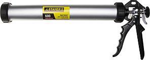 Пистолет закрытый, для туб, алюминиевый корпус Stayer Profi  (600мл)