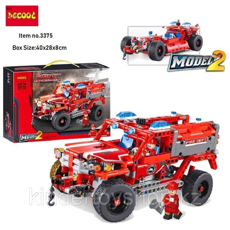 """Конструктор Decool Technic 3375 (Аналог Lego Technic 42075) """"джип служба быстрого реагирования"""" 513 деталей"""