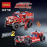 """Конструктор Decool Technic 3375 (Аналог Lego Technic 42075) """"джип служба быстрого реагирования"""" 513 деталей, фото 4"""