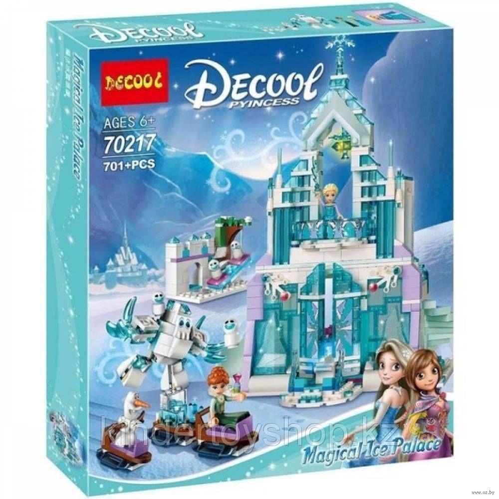 Конструктор Decool 70217  холоное сердце Ледяной замок Эльзы аналог Lego 41148 Принцессы Дисней  701 деталь