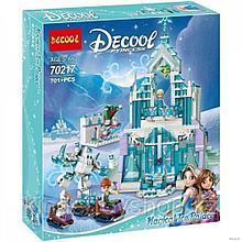 Конструктор Decool 70217  холоное сердце Ледяной замок Эльзы аналогLego 41148 Принцессы Дисней 701 деталь