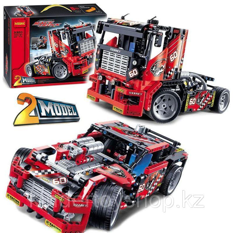 Конструктор DECOOL 3360 спортивный грузовик V8 2 в 1 (аналог Lego Technic 42041)