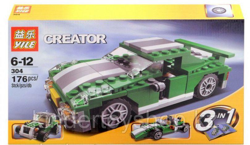 Конструктор YILE CREATOR 304 гоночный автомобиль 3 В 1, 176 дет аналог lego