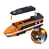Конструктор аналог Lego Creator 10233 Train KAZI - 98201 Пассажирский поезд Горизонт Экспресс Gorizon Express, фото 4