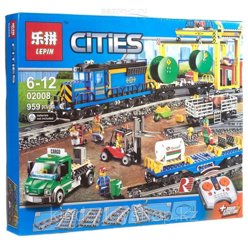 Конструктор Аналог Лего Lego 60052 Lepin 02008 King 82008 Грузовой поезд