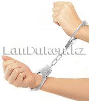 Металлические наручники Hand Cuffs для вечеринок и приколов