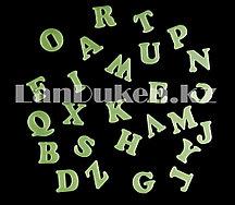 Фосфорные наклейки английский алфавит на стену
