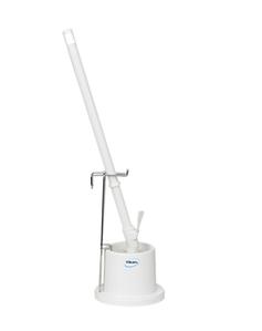 Щетка унитазная с ручкой, 720 мм, средний ворс, белый цвет
