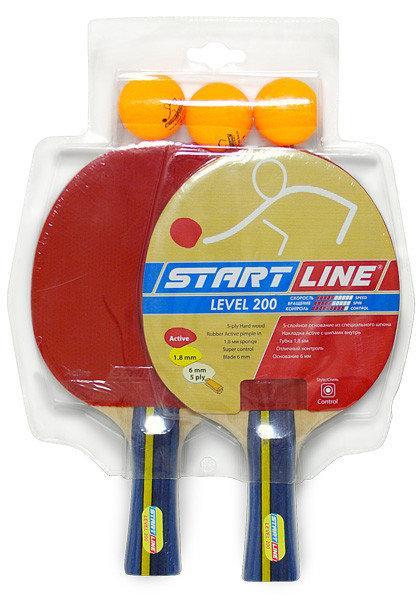 Набор: 2 Ракетки Level 200, 3 Мяча Club Select, упаковано в блистер - фото 1